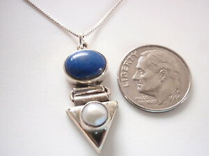 Cultured-Pearl-and-Lapis-925-Sterling-Silver-Pendant-Corona-Sun-Jewelry