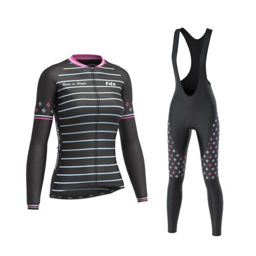 """FDX Women/'s /""""Limited Edition/"""" Cycling Bib Tights Thermal Cycling Jersey Combo"""