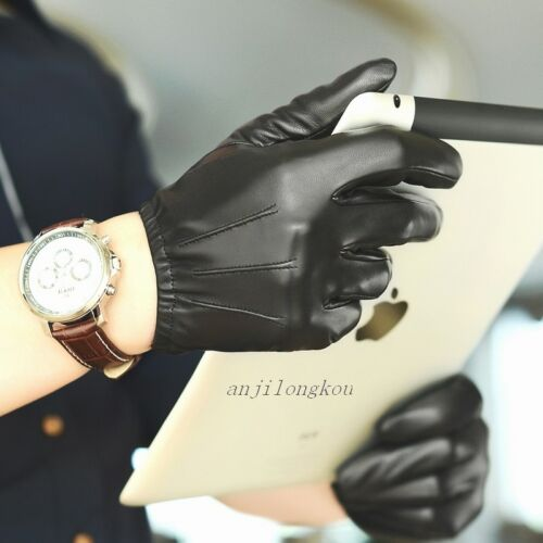 Black Brown Size:S//M//L//XL//2XL//Custom Men/'s Police tactical real leather gloves