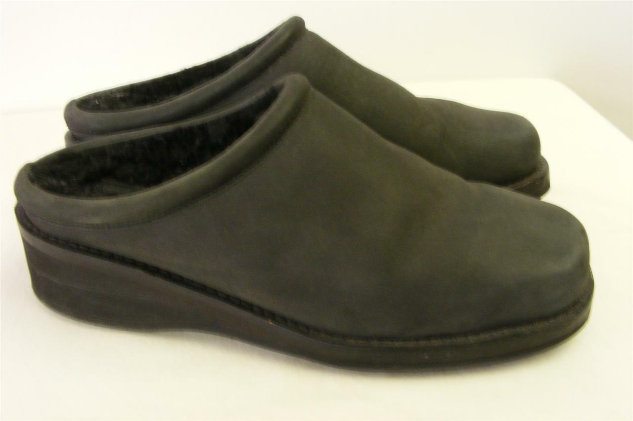 womens COLE HAAN GRAY SUEDE shoes LEATHER CLOGS SLIP SLIDES shoes SUEDE 7.5 AA mules mocs 333e61