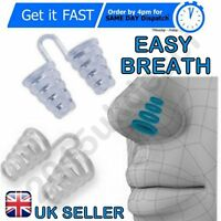 Anti Snoring Breathe Easy Sleep Aid Nasal Dilators Device No Strips Nose Clip UK