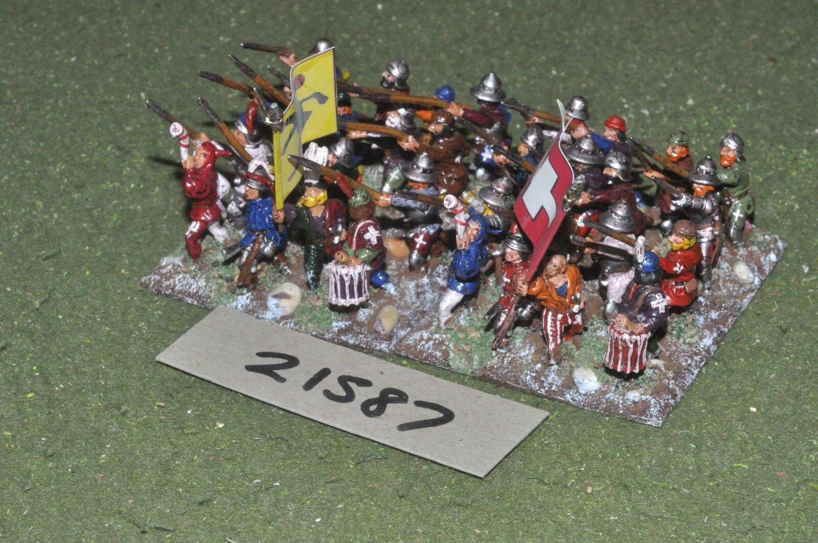 25mm medieval suizo - 32 pikemen Infantería-INF (21587)