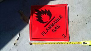 FLAMMABLE-Gas-Autocollant-25mm-X-25mm