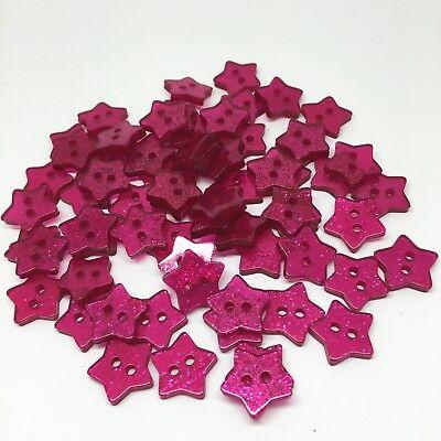 20 bouton 14mm étoile paillette pourpre violet couture scrapbooking mercerie art
