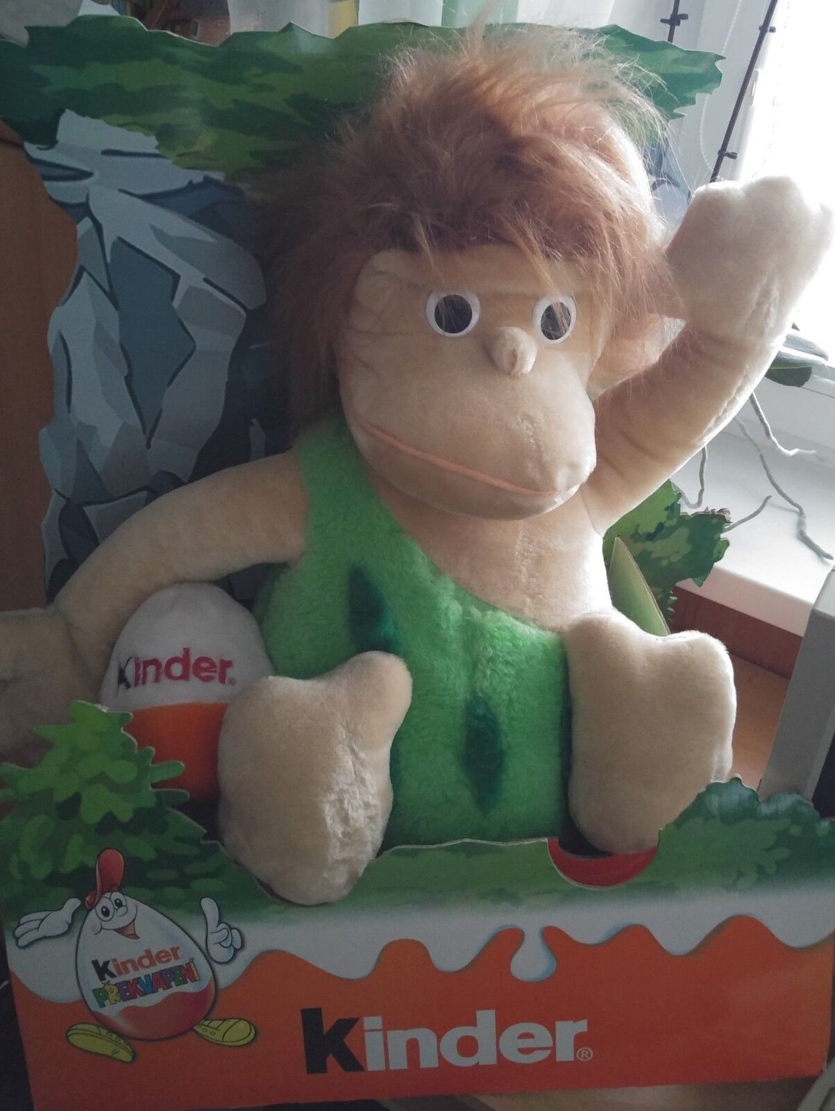 Kinder Surprise Ferrero Caveman Neanderthal Plush Toy