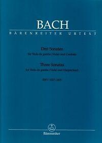 Bach Sonates (3) Bwv1027-1029 Viola Da Gamba-afficher Le Titre D'origine
