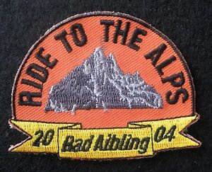 RIDE-TO-THE-ALPS-EMBROIDERED-SEW-ON-PATCH-BAD-AIBLING-GERMANY-2004-2-3-4-x-2-1-4