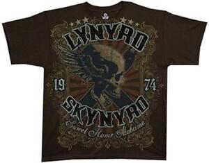 Skynyrd Lynyrd Licenza Rock Home Sweet Alabama Shirt ufficiale T Skull 4HqqBawxv