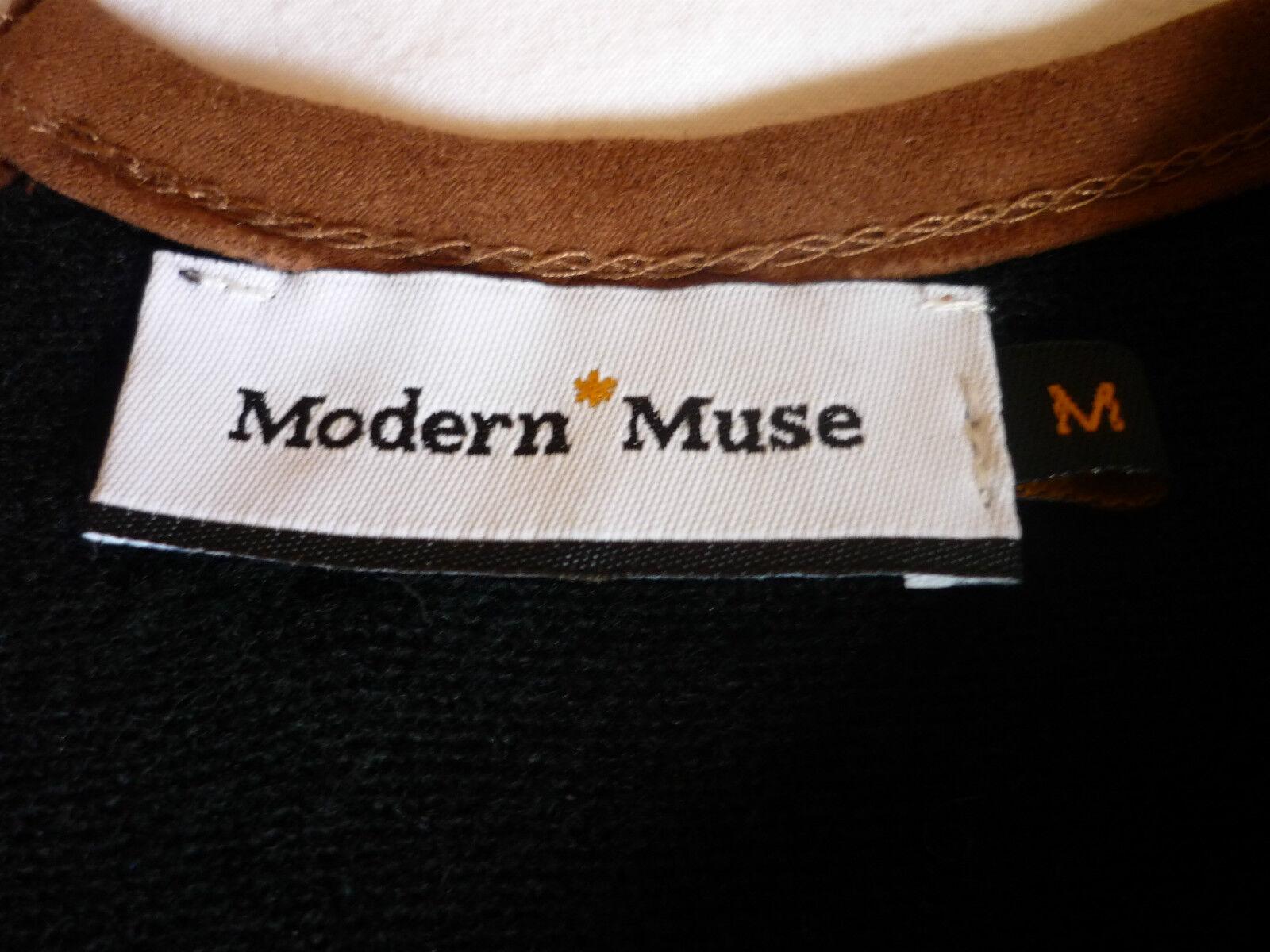 MODERN MUSE Taille - Pull-tunique en laine noir - Taille MUSE M 223754