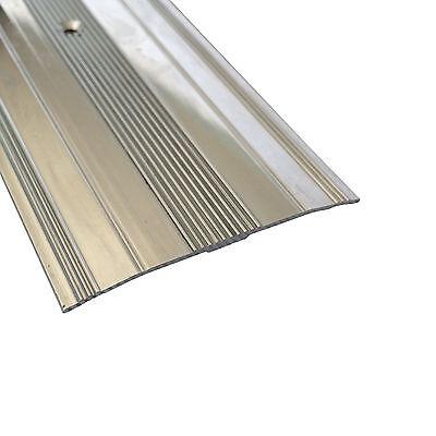 Extra Wide Cover Strip Carpet Metal Door Bar Trim - Threshold - Brass/Silver