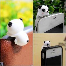 3.5mm Anti-dust Earphone Stopper Plug Panda Style for iPone Samsung