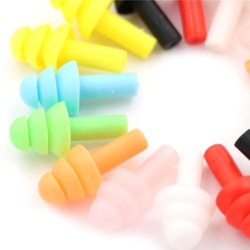 20Pcs Silicone Ear Plugs Anti Noise Earplugs Comfortable For Study Sleep LEUS