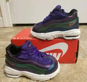timeless design 7ef62 ac4a5 Details about Nike Air Max 95 SE (TD) Purple/Pink/Green TODDLER SZ 4C NEW  AO9212 500 NOLID