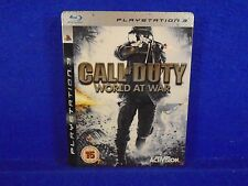 ps3 CALL Of DUTY World At War Tin Steelbook Edition Playstation