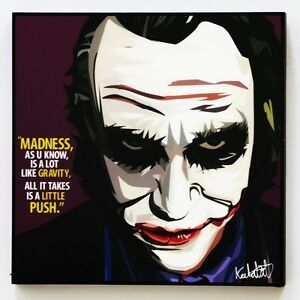 Details About The Joker Batman Canvas Quotes Wall Decals Photo Painting Framed Pop Art Poster
