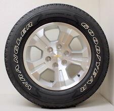 "New Takeoff Chevy Z71 Silverado Tahoe 18"" Wheels Rims OWL Goodyear Tires"