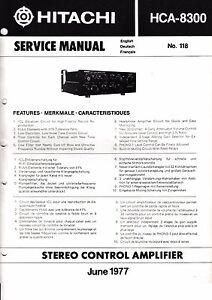 Service-Manual-Instructions-for-Hitachi-hca-8300