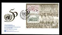 United Nations Geneva 1995, 50th Anniv Of UNO M/S FDC #C8354