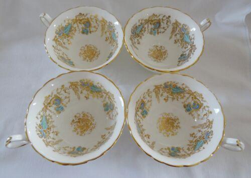 ROYAL CAULDON vintage English bone china GAINSBOROUGH lot 4 Teacup Tea Cup