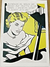 Roy Lichtenstein Pop Art Poster Girl at Piano- 17x12  Unsigned  Offset Litho
