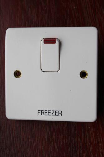 """Neon White marqué /""""freezer/"""" Mk K5423 WHI 20A DP commuté connexion unité"""