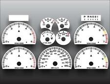 1998-2000 Dodge Durango Dash Instrument Cluster White Face Gauges