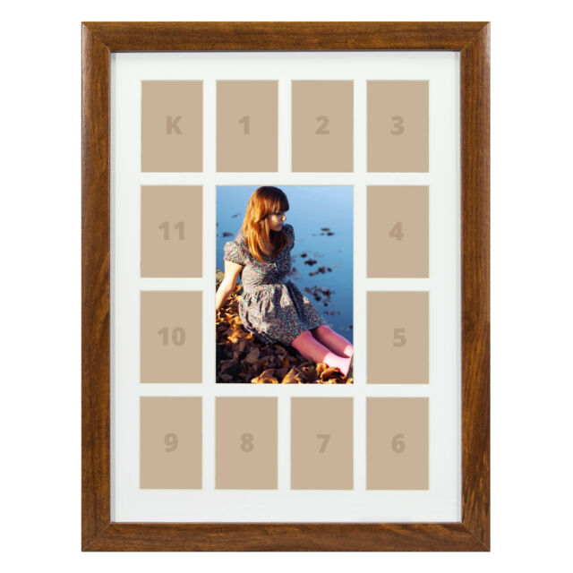 Craig Frames 12x16 Brown Picture Frame White Collage Mat With 13