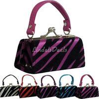 Purses / Baby Zebra Striped Purses / Assorted Colors / Lipstick Bag