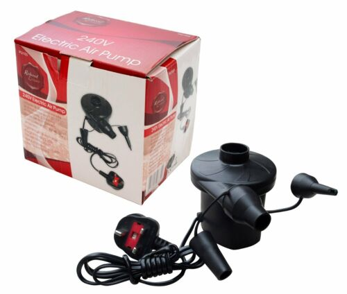 Secteur pompe air électrique Camping Pompe Gonfleur 240 V 3 Broches UK Plug