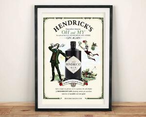 HENDRICK-039-S-GIN-POSTERS-Advert-Art-Prints
