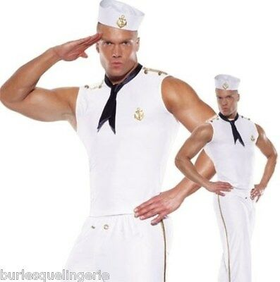 Mens Sailor / Navy / Marine Costume - great for Mardi Gras  -  Australian Seller