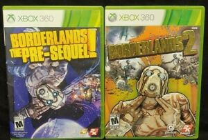 Borderlands-2-The-Pre-Sequel-XBOX-360-2-GAME-Lot-Tested-Working