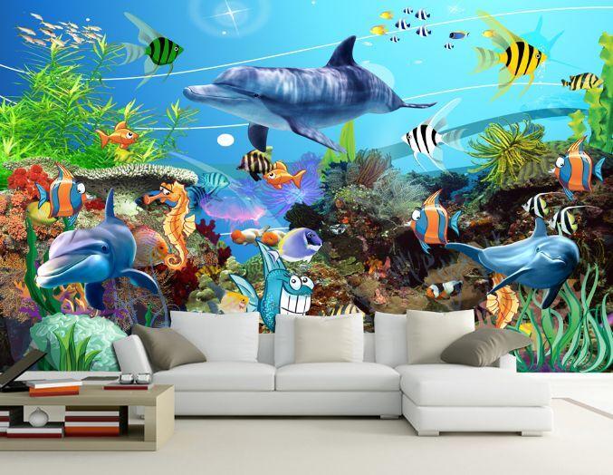 3D Belle Mer 2 Photo Papier Peint en Autocollant Murale Plafond Chambre Art