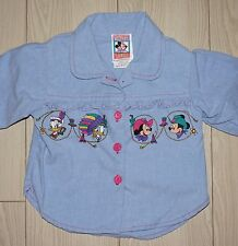 Baby Girls VTG DISNEY MICKEYS STUFF FOR KIDS Button Down Shirt Western 18 Months