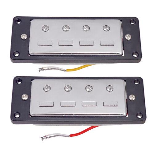 Mini Humbucker 4 Saiter E Bass Bridge Neck Pickups mit Montagering