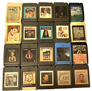Vintage 8 Track Tape Collection 20 Pc LOT Untested Estate Find Jonny Cash Etc.