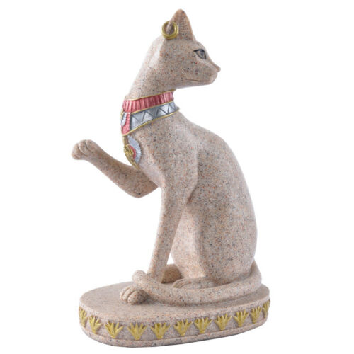 Sandstone Ancient Egyptian Mau Cat Statue Sculpture Hand Carved Craft