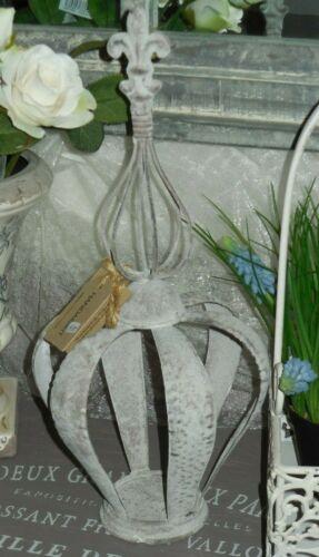 Krone Lilie Deko Garten Blumen antique Metall Patina chic vintage und shabby