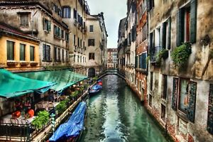 venice italy italian buildings gondalas city canvas pictures wall