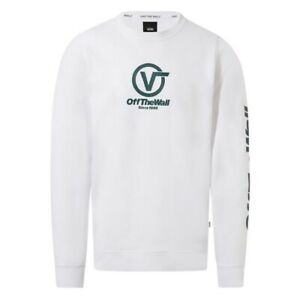 Vans-Distorted-Performance-Crew-Felpa-Uomo-VN0A456DWHT1-White