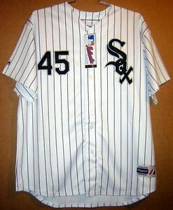 9bc2ca3099a1bd Image is loading CHICAGO-WHITE-SOX-MICHAEL-JORDAN-45-AUTHENTIC-PINSTRIPE-
