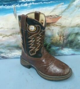 32be0850694 Details about Durango Little Kid Brown Black Saddle Western Boot SIZE US 1  M UK 13 M BT200