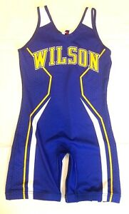 Lady Mules Wilson Full Sports Large Singlet Blue Yellow