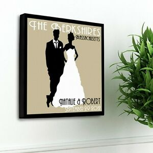 Personalized Wedding Canvas Personalized Art Art Couples Wedding Gift Wall Decor