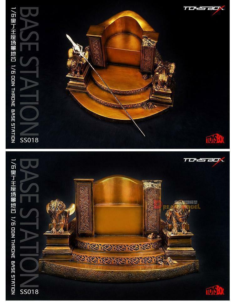 TOYS-Box SS018 1 6th Odin trono silla Modelo Accesorio base montar 12  Figura Cuerpo