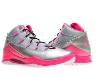 Girls Jordan Prime Flight 616593-019 Silver Pink Black White 100% Authentic