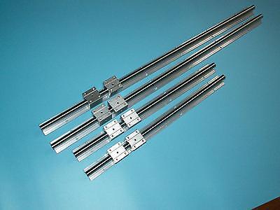 SBR20-2438mm//8 FEET LINEAR SLIDE GUIDE 2 RAIL+4 SBR20UU Bearing Block CNC set