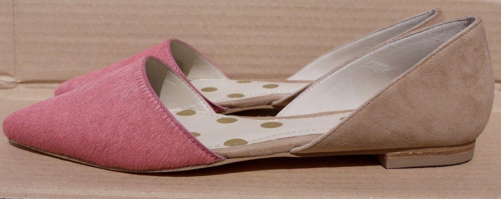 Boden suede and Leder flat schuhe rose pink & tan UK 5.5 EU 38.5 BNIB