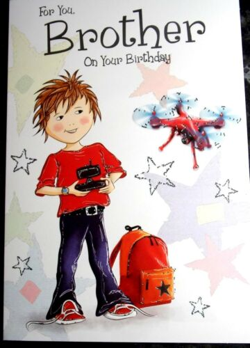Brother Birthday card by Heartstrings cards 4 different themes available.