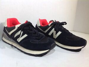 finest selection 24f33 f618a Details about New Balance Mens Size 6.5 ML574HVD Black White Athletic  Fashion Sneakers YC-863